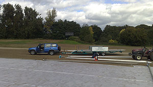 Wright Rain delivering new pipes & fittings with their specialist 10m trailer